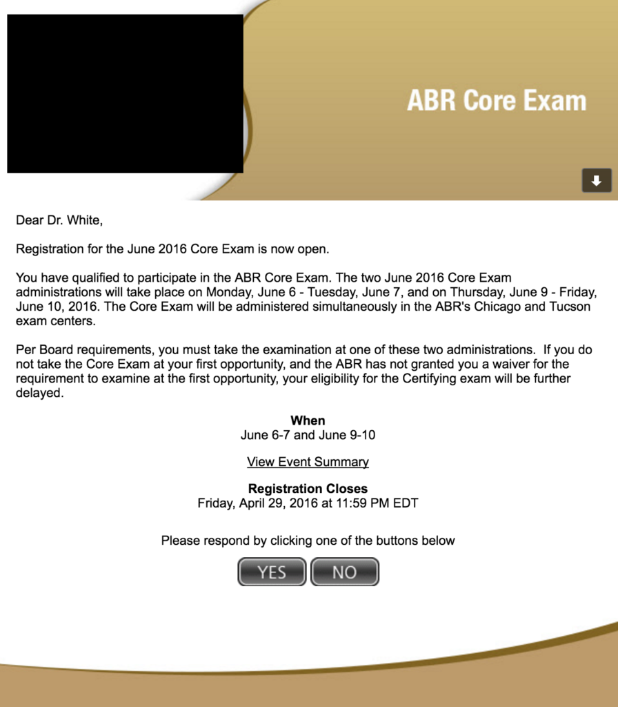 The Abr Core Exam Experience Ben White